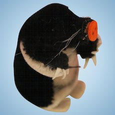 Vintage Steiff Maxi Mole w Button 4 IN Steiff Mohair Maxi Mole