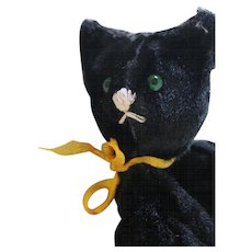 Vintage Black Cat Wind-Up Toy, Vintage Key Wind Black Cat Toy, Works!