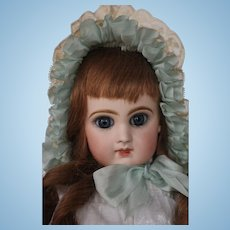 Antique Jumeau Bebe Reclaime French Doll Size 7 Antique French Bisque Doll 17""