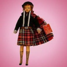 Vintage Peggy Nisbet Scots Lassie Doll, Hangtag, 7 3/4 IN, Scotland