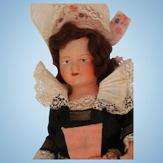 Vintage French Celluloid Doll, Brittany, 9 IN, Hangtag and Label, Celluloid Doll