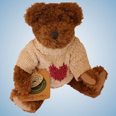 Boyds Bears with Bearwear, 9 IN, Hangtags, Label, The Archive Collection Jointed
