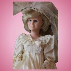 Princess Diana Doll, 15 IN, Nisbet Princess Diana Bride Doll, 1980's, England