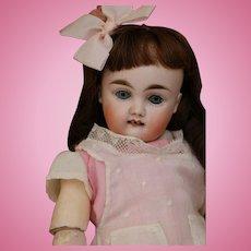 Kestner German Bisque Doll Marked 4, 12 IN, Straight Wrist Body, Square Teeth!
