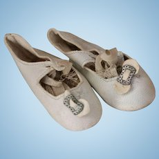 Antique Doll Shoes, Kid Leather Doll Shoes, Antique Shoes, Antique Leather Shoes