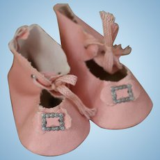Pink Doll Shoes, Vintage Doll Shoes, Vintage Pink Doll Shoes, 3 IN Vintage Shoes