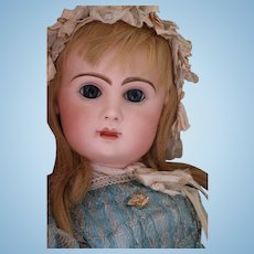 Jumeau Size 14 Antique French Bisque Doll, 31 IN, Tete Jumeau Closed Mouth Bebe