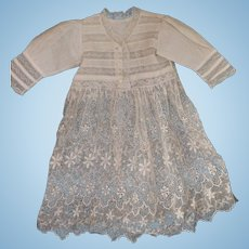 Antique Doll Dress Antique Lace Doll Dress Beautiful Lace Dress For Antique Doll