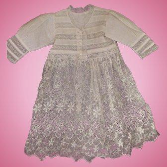 Antique Doll Dress Antique Lace Doll Dress Beautiful Lace Dress For Antique Doll