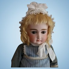 Closed Mouth Kestner Bisque Doll w Wardrobe, 21 Inches