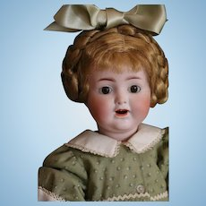 ABG 1367 Antique German Bisque Doll, Toddler, 13 IN, Antique Doll, Breather