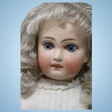 Antique Sonneberg Doll 15.5 IN Antique Bahr and Proschild 137 German Bisque Doll, Paperweight Eyes