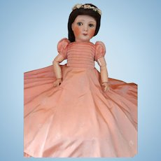 Antique Unis France Princess Elizabeth Portrait Model Doll, 18 IN Original Gown