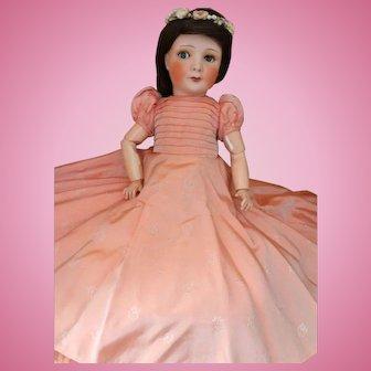 Antique Unis France Princess Elizabeth Portrait Model Doll, 18 IN Original Gown