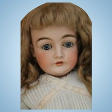 Antique Kestner 146 German Bisque Doll, 24 IN, Antique Kestner w Antique Wig