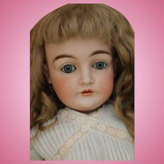 Antique Kestner 146 German Bisque Doll, 24 IN, Antique Kestner w Antique Wig