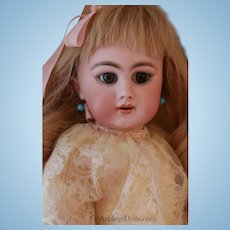 Antique DEP Size 7 Antique French Doll, 17.5 IN
