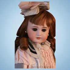 Antique Tete Jumeau DEP 8 Doll, 19.5 IN, Antique French Doll with Paper Label!