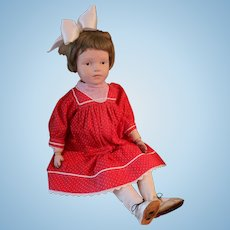Antique Schoenhut Doll 22 IN Wooden Doll, Original Shoes Schoenhut Large Doll!