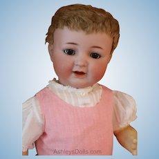 Antique Kammer & Reinhardt 126 Doll, 20 IN, Antique German Bisque Doll Skin Wig