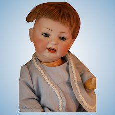 Antique Hertel Schwab 152 Baby, 15 IN, Antique German Bisque Doll Antique Wig