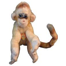 Vintage Steiff Mungo Mohair Monkey, 5 1/2 IN, Vintage Mohair Monkey Mungo Tag