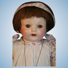 """Vintage Effanbee """"Mama"""" Doll, 18 IN, 1930's Compo, Original Tagged Costume"""