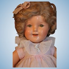Vintage Ideal Shirley Temple Doll, 18 IN Composition Doll 1930s Original Costume