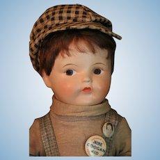 Vintage Horsman Jackie Coogan Kid Composition Doll 14 IN 1921 All Original
