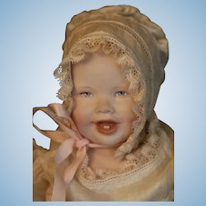 Vintage Martha Thompson Doll Baby Original Costume 9 3/4 IN 1950's