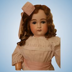 Antique Kestner 103 German Bisque Doll, Large 31 IN, Antique Doll Antique Wig