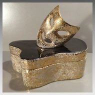 Hedi Schoop Covered Box with Comedy Mask - 1950s