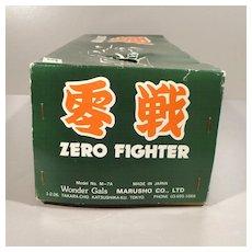 Japanese Vintage Tin Toy of WWII Zero Fighter Airplane