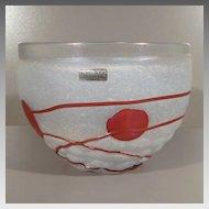 Bertil Vallien Galaxy Series Bowl - Kosta Boda Artist Collection