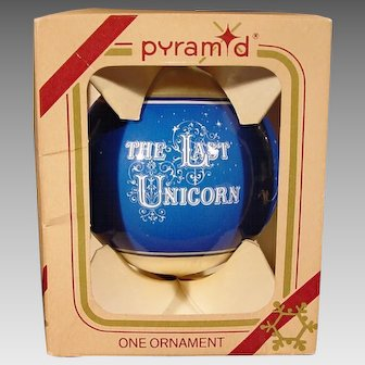 The Last Unicorn Christmas Ornament - 1980s Rauch Industries