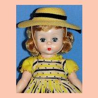 """Alexander-kins SLW doll in Original """"Wendy Loves School Dresses""""  Pinafore Costume - Sweet!"""