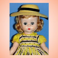 "Alexander-kins SLW doll in Original ""Wendy Loves School Dresses""  Pinafore Costume - Sweet!"