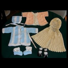 1960's Baby Doll or Infant clothing lot