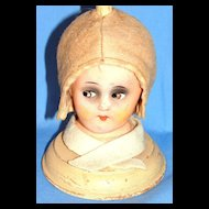 1920's - 1930's Era Figural Composition Art Deco Doll Hat Stand