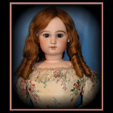 "34"" Monumental Closed Mouth Antique Tete Jumeau Fashion Poupee Doll - Breathtaking Child's Face!"