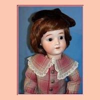 """Sweet 22"""" Schoenau Hoffmeister Bisque Child  Doll"""