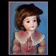 "Sweet 22"" Schoenau Hoffmeister Bisque Child  Doll"
