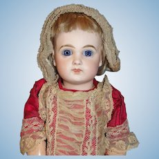 "On hold for P: Exquisite Depose Jumeau Bébé 5 - Petite Early French Bisque Doll - 14 1/2"" Cabinet size -  named Isabel!"