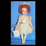 "Antique Cabinet SIze 8"" Armand Marseille flapper type Bisque Doll"