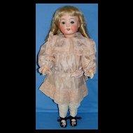 Antique Heubach Koppelsdorf Bisque Doll Mold # 320 - Pretty in Pink Silk!