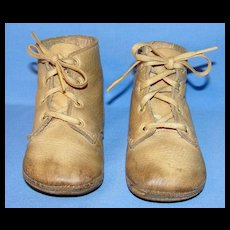 Vintage Pr of Leather high top Toddler / Doll Shoes