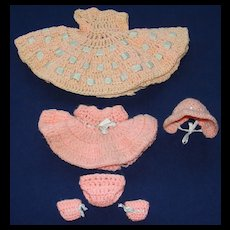 Two Lovely Hand Crocheted Outfits one for an Alexander-Kins