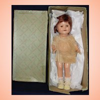 Rare 1935 Madame Alexander Composition Baby Jane Celebrity Doll - Original Tagged Dress and Box!