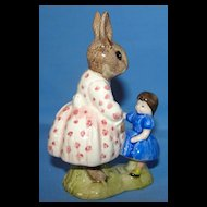 """Royal Doulton Dollie Bunnykins """"Play Time"""" bunny figurine"""