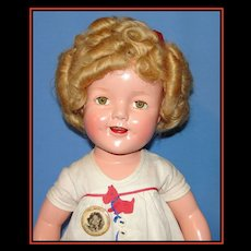 "Fantastic 22""  Composition Shirley Temple Doll in tagged Scottie Dress!"